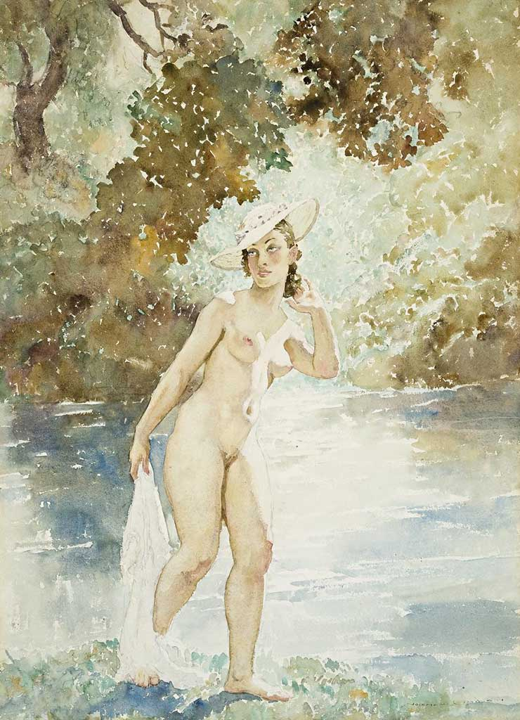 "Норман Линдсей (Norman Lindsay) ""The River Nymph"""
