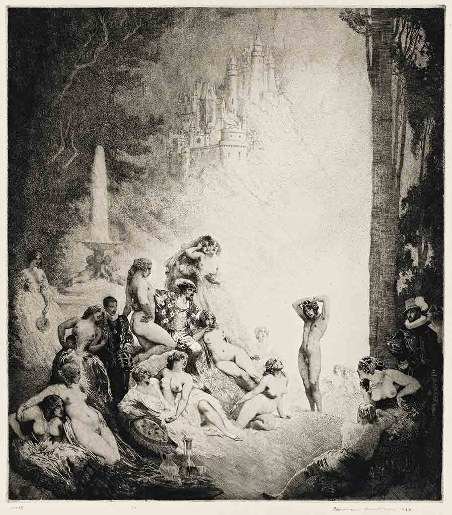 "Норман Линдсей (Norman Lindsay) (Etching) ""Song Of The Faun (Etching)"""