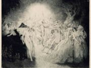 "Норман Линдсей (Norman Lindsay) (Etching) ""Похоронный марш Дон Жуана (Офорт) | The Funeral March Of Don Juan (Etching)"""