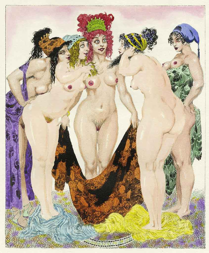 "Норман Линдсей (Norman Lindsay) (Etching) ""Аристофан, Лисистрата (Литография) 