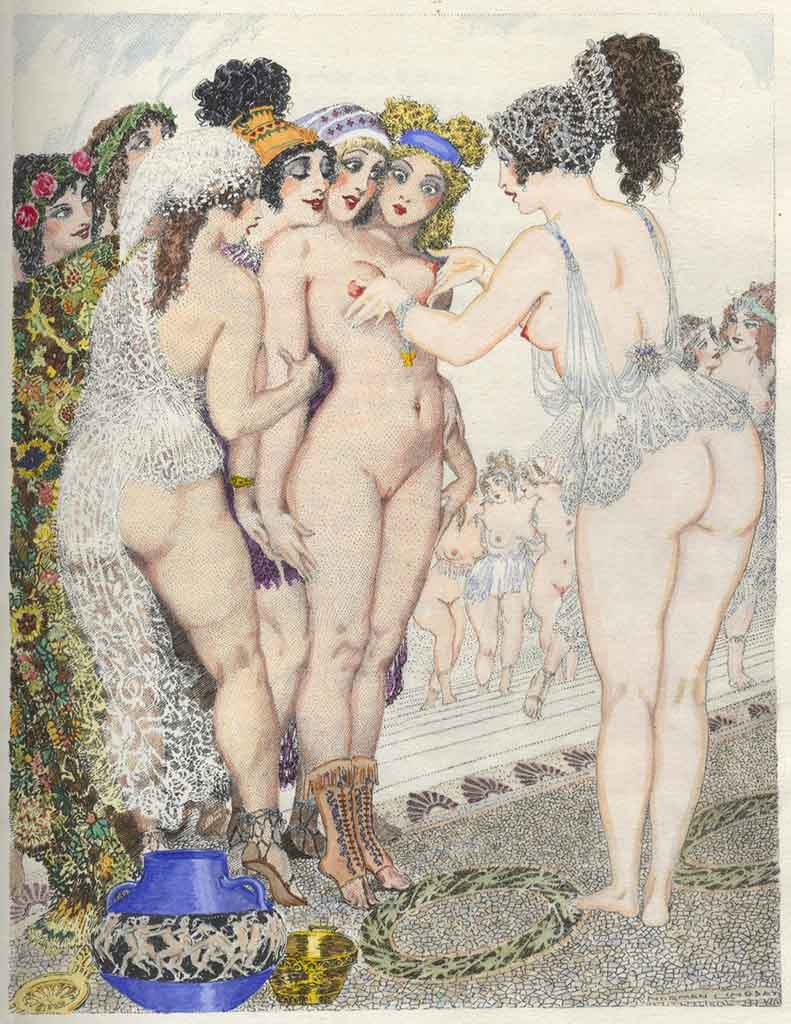 "Норман Линдсей (Norman Lindsay) (Etching) ""Аристофан, Лисистрата - 2 (Литография) 