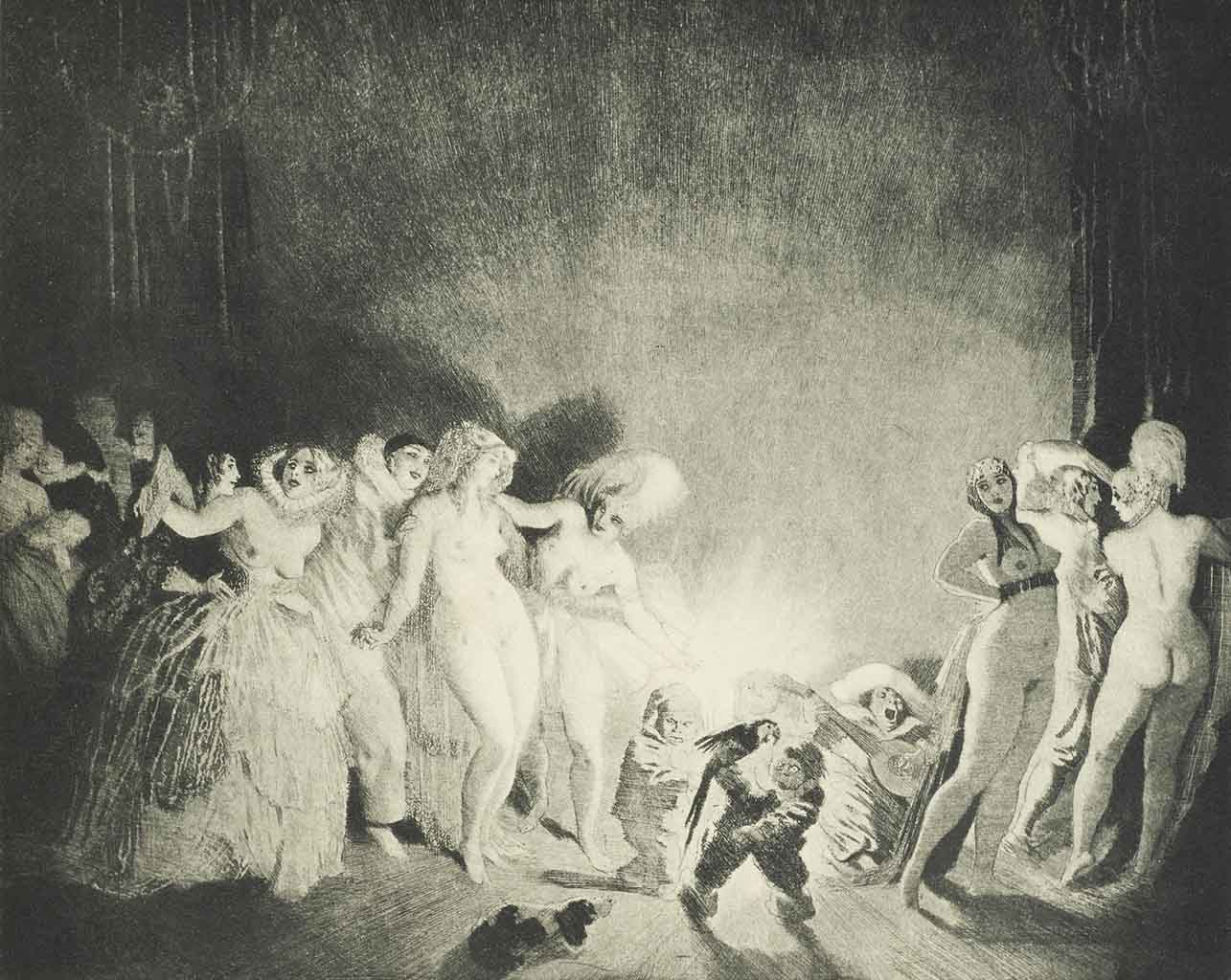 "Норман Линдсей (Norman Lindsay) (Etching) ""The Etchings. London. Constable & Co."""