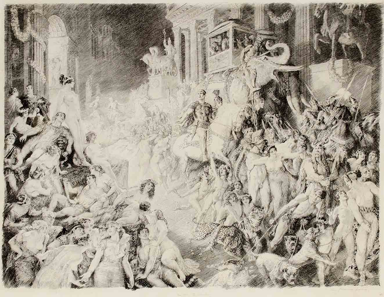 "Норман Линдсей (Norman Lindsay) (Etching) ""In Vain the Christian (Etching)"""