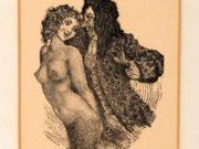 "Норман Линдсей (Norman Lindsay) (Etching) ""Mermaid and Rake (Etching)"""