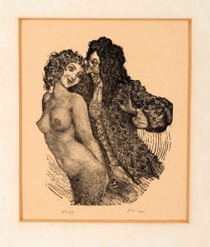 "Норман Линдсей (Norman Lindsay) (Etching) ""Mermaid and Rake (Etching)"""