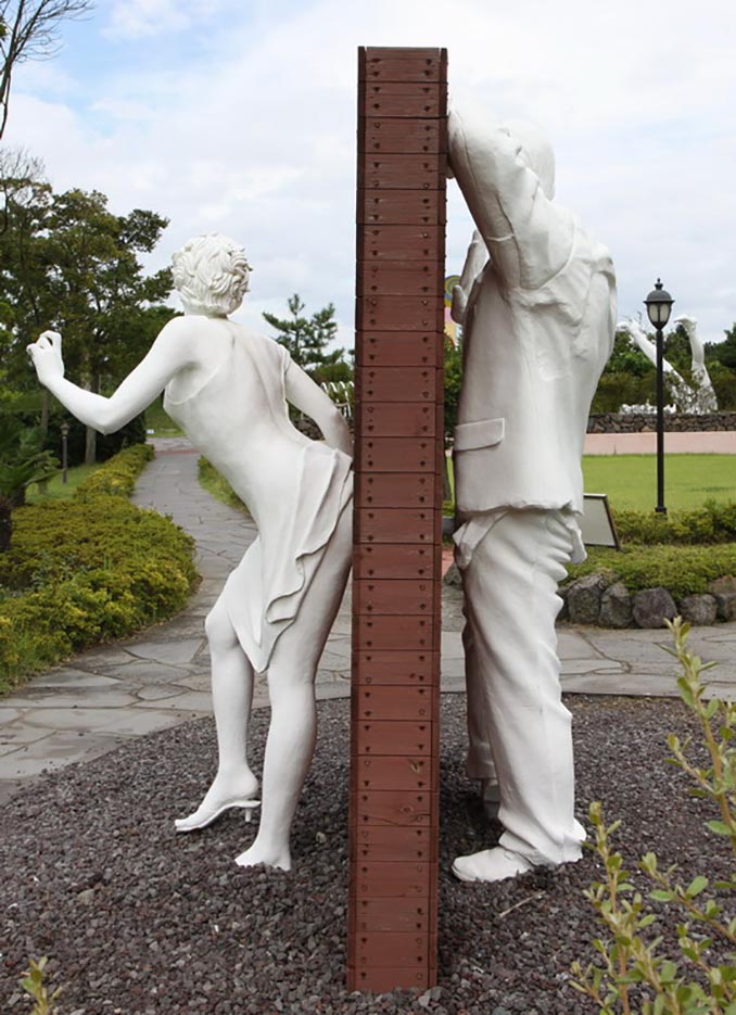 "Erotic sculpture's Park, Jeju Island, South Korea ""Love Land - 24"""