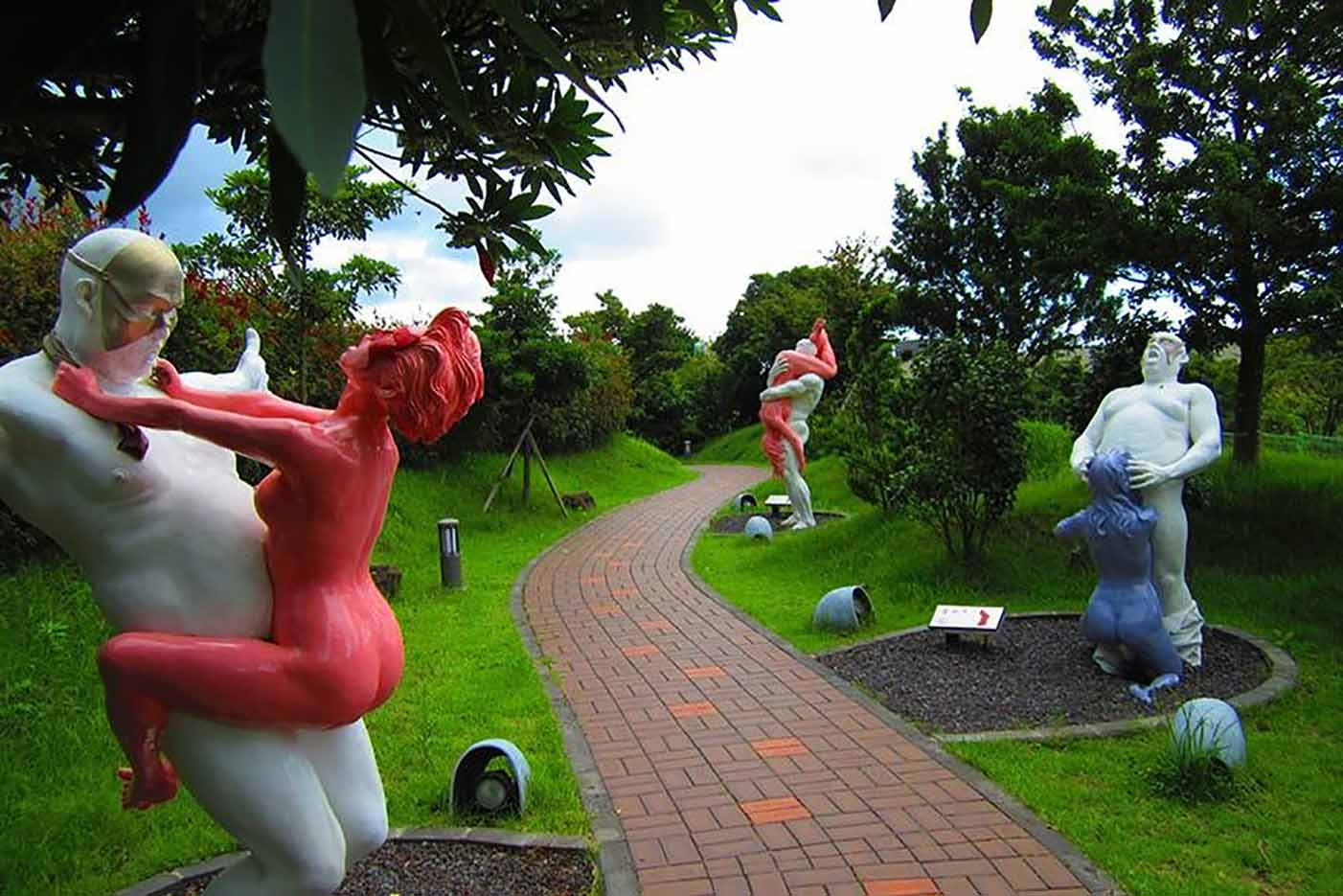 "Erotic sculpture's Park, Jeju Island, South Korea ""Love Land - 5"""