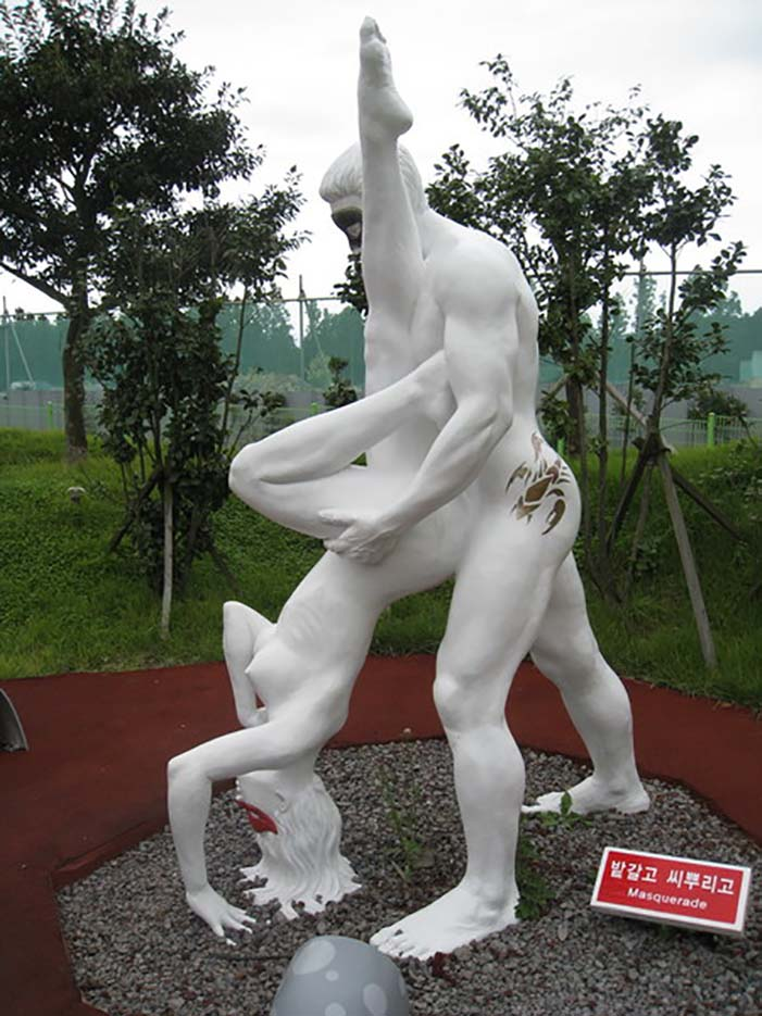 "Erotic sculpture's Park, Jeju Island, South Korea ""Love Land - 63"""