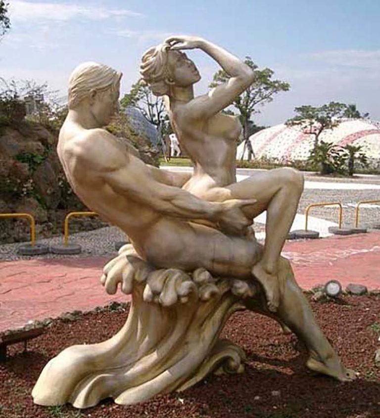 Эротика в скульптуре, фигурки бутылочки порно фото