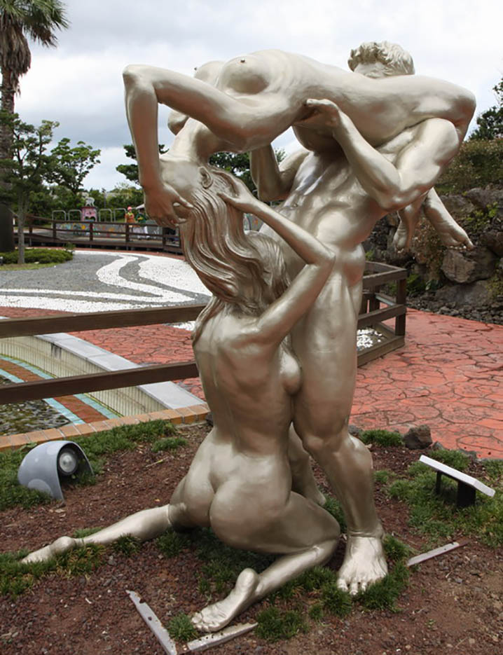 "Erotic sculpture's Park, Jeju Island, South Korea ""Love Land - 68"""