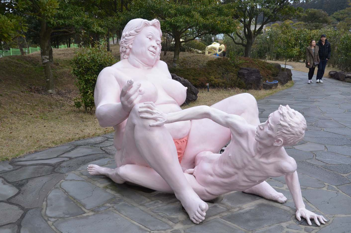 "Erotic sculpture's Park, Jeju Island, South Korea ""Love Land - 69"""
