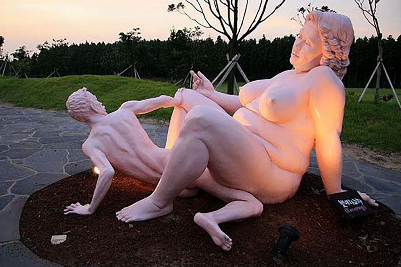"Erotic sculpture's Park, Jeju Island, South Korea ""Love Land - 70"""