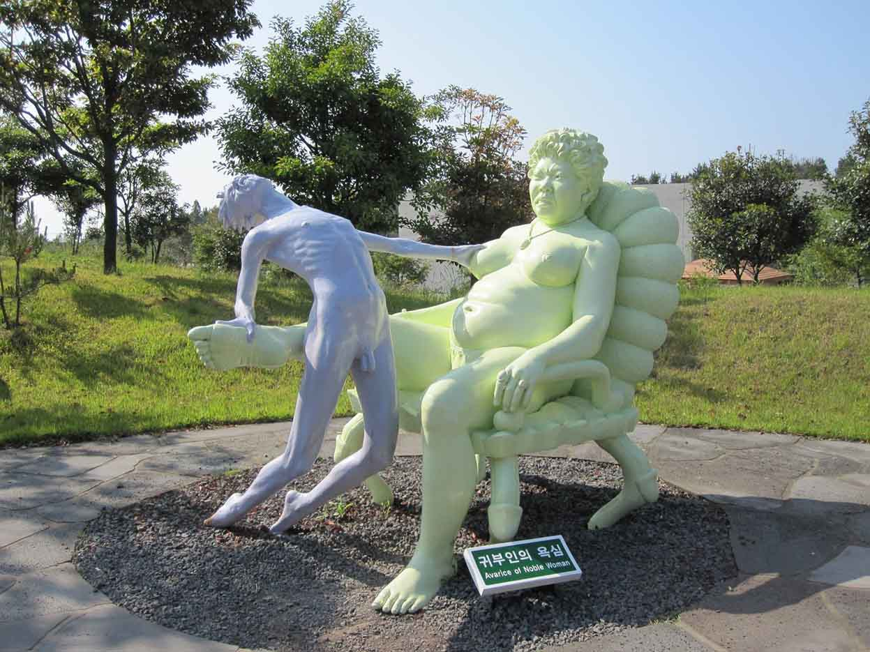 "Erotic sculpture's Park, Jeju Island, South Korea ""Love Land - 72"""
