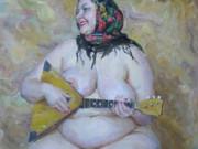 """Виктор Ляпкало (Victor Lyapcalo), """"Музыкальная дама с балалайкой"""""""