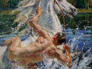 "Виктор Ляпкало (Victor Lyapcalo), ""Купание коня"""