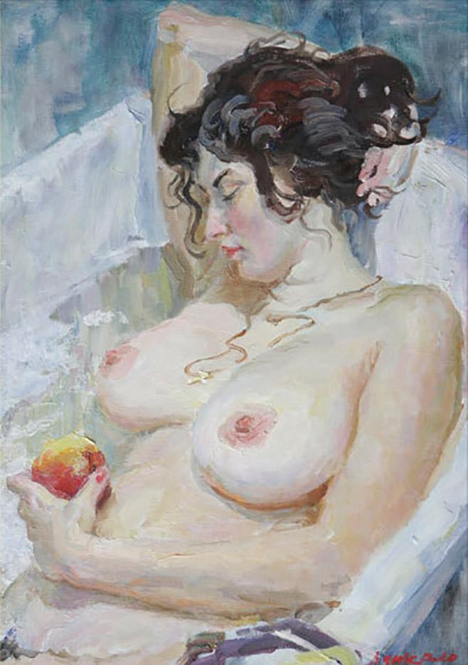 """Виктор Ляпкало (Victor Lyapcalo), """"Катя с яблоком"""""""