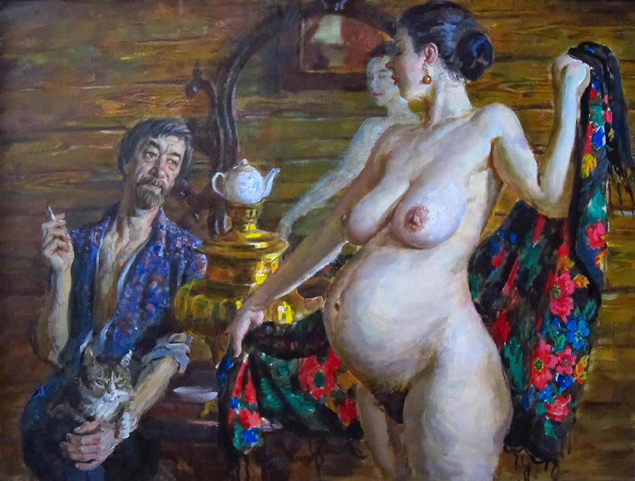 Эротические рисунки виктора ляпкало девушки сперму