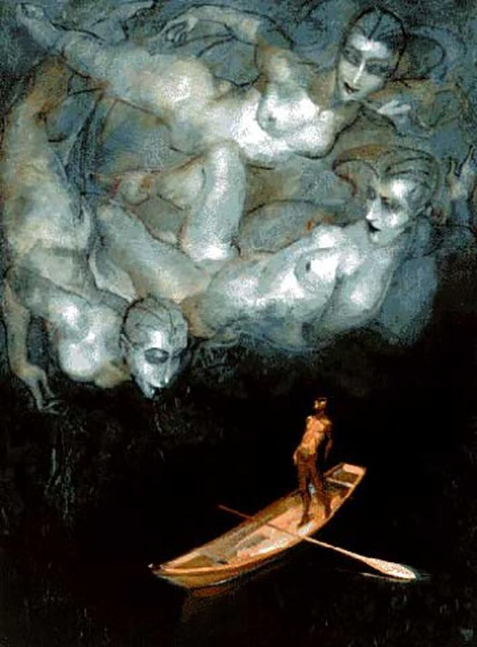 """Хуарес Мачадо (Juarez Machado), """"As bruxas roubam a lancha baleeira de um pescador da ilha"""""""