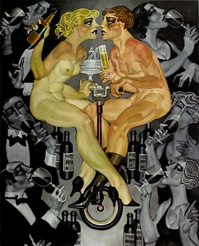 "Хуарес Мачадо (Juarez Machado), ""Les yeux dans les yeux au champagne"""