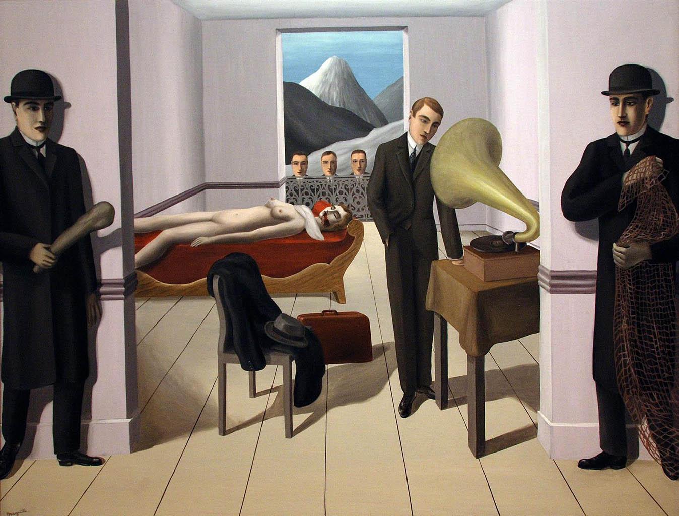 """Рене Магритт (Rene Magritte), """"The menaced assassin"""""""