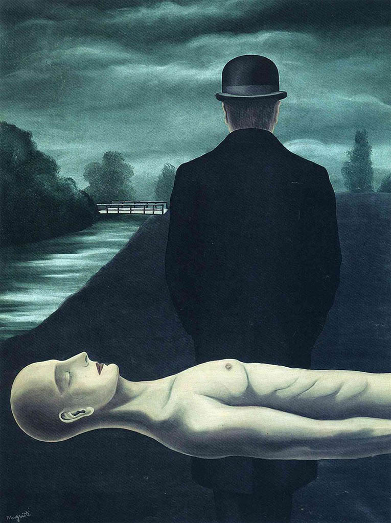 "Рене Магритт (Rene Magritte), ""The musings of the solitary walker"""