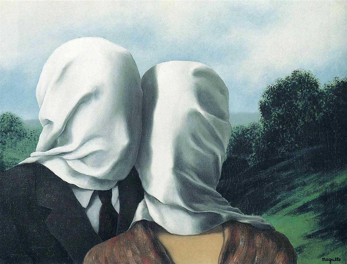 "Рене Магритт (Rene Magritte), ""The Lovers"""