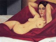"Рене Магритт (Rene Magritte), ""Reclining nude"""