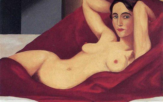 "Рене Магритт (Rene Magritte), ""Reclining nude"""