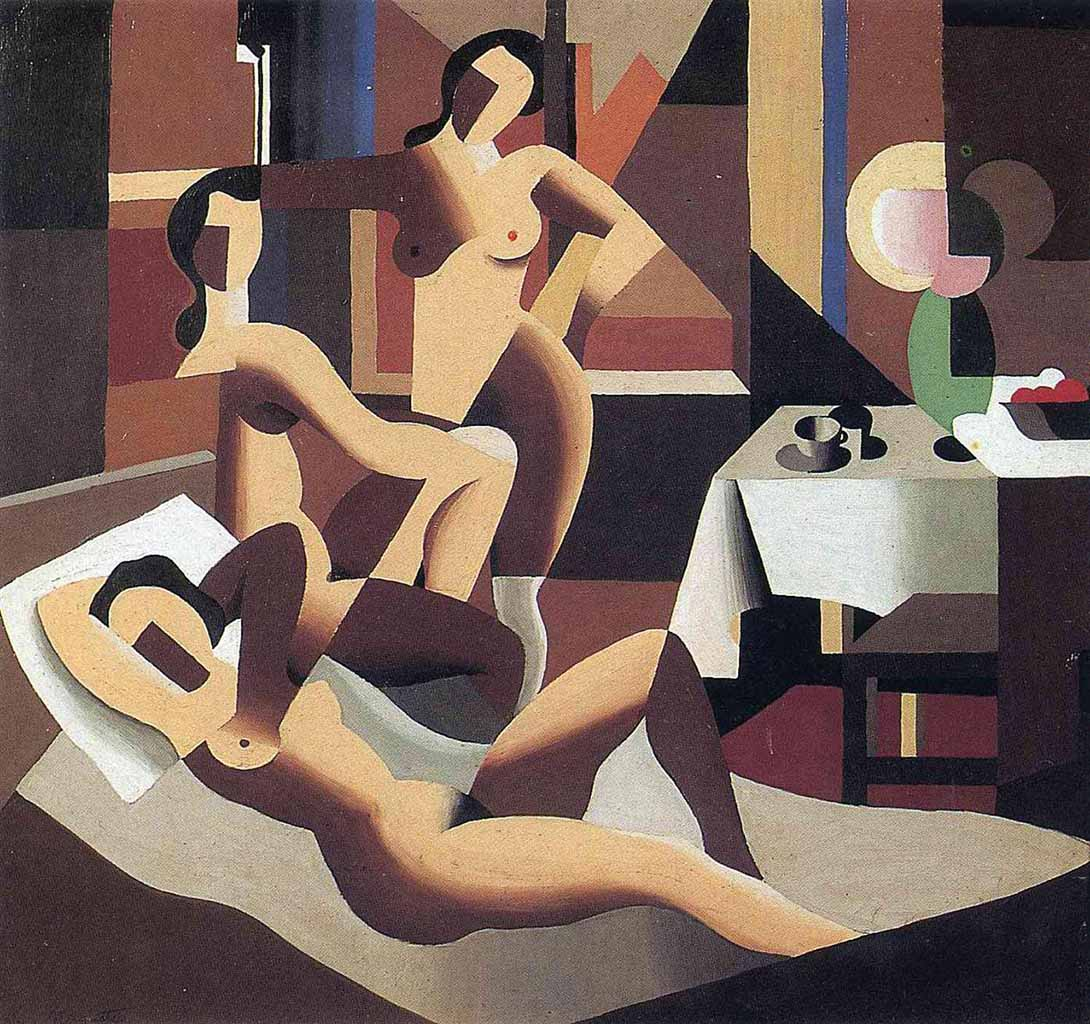 "Рене Магритт (Rene Magritte), ""Three nudes in an interior"""