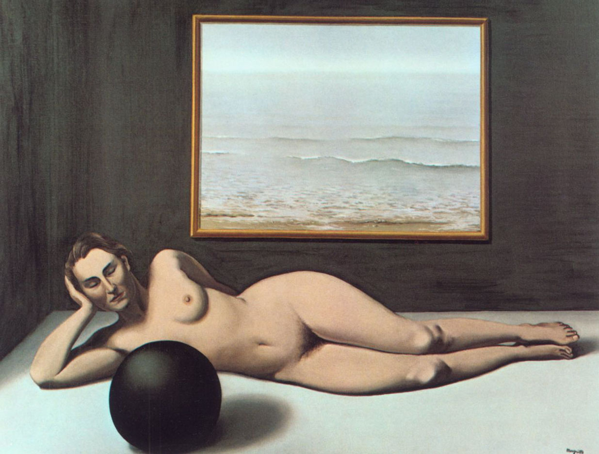 "Рене Магритт (Rene Magritte), ""Bather between Light and Darkness"""