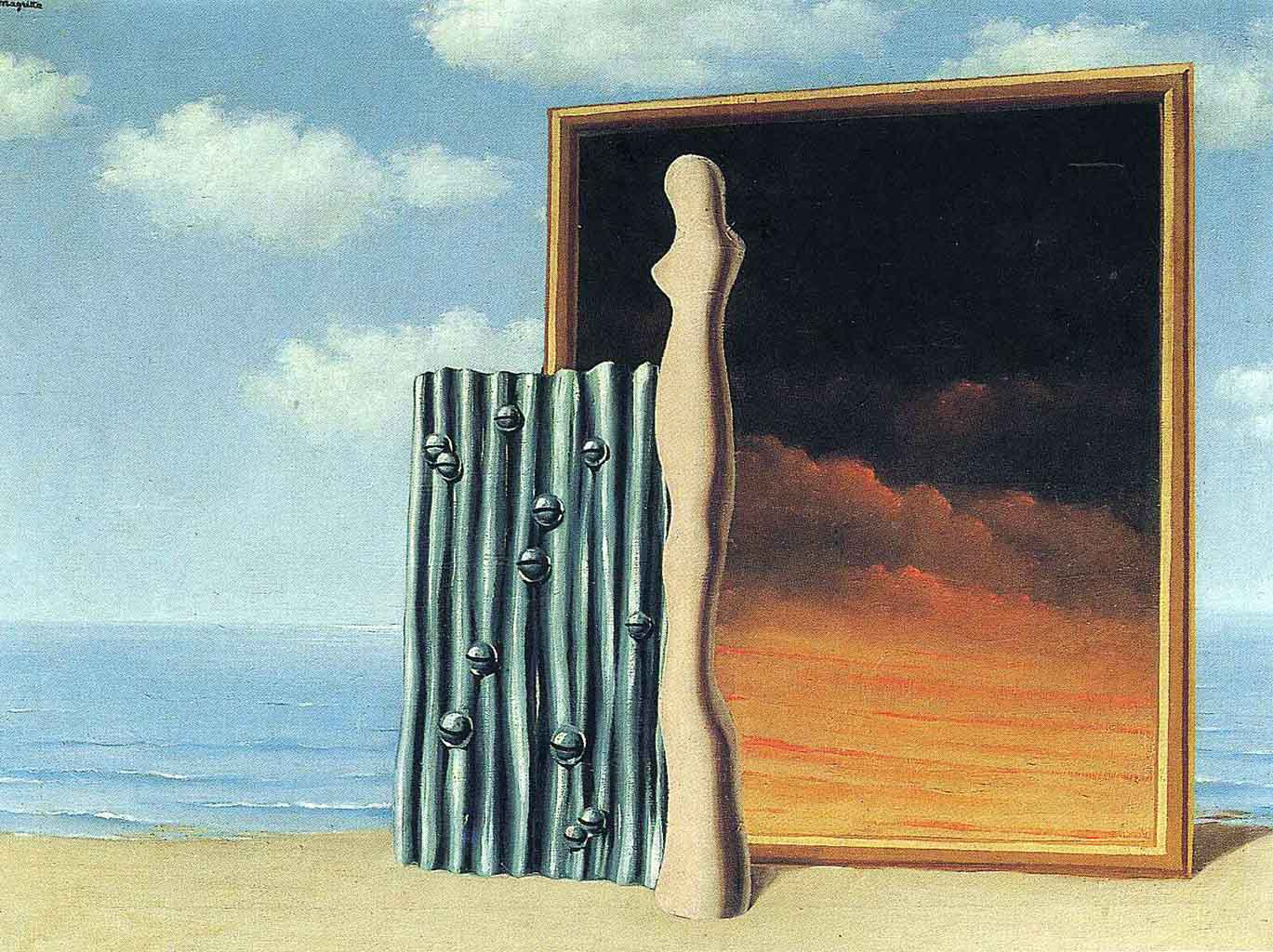 "Рене Магритт (Rene Magritte), ""Composition on a seashore"""