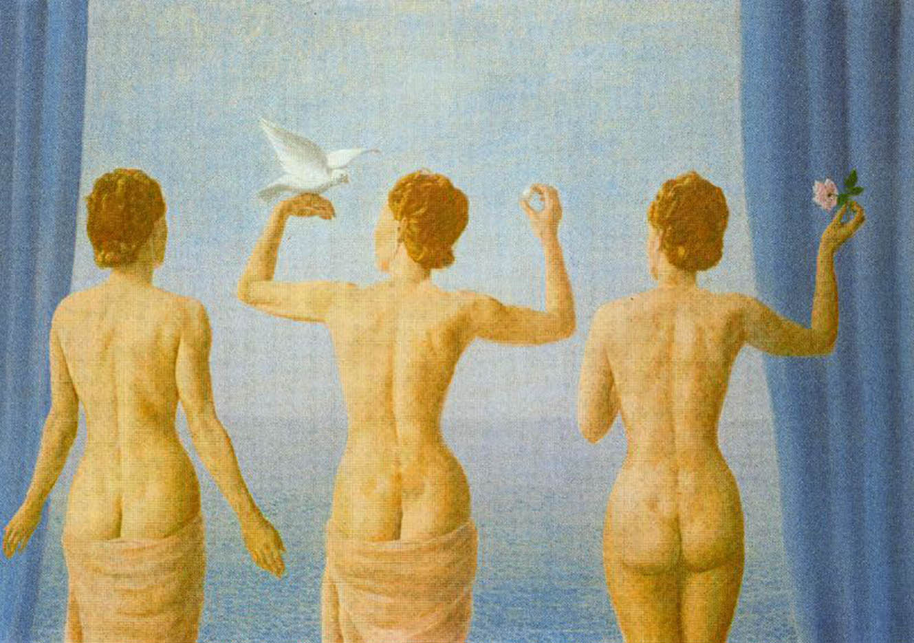 "Рене Магритт (Rene Magritte), ""The break in the clouds"""