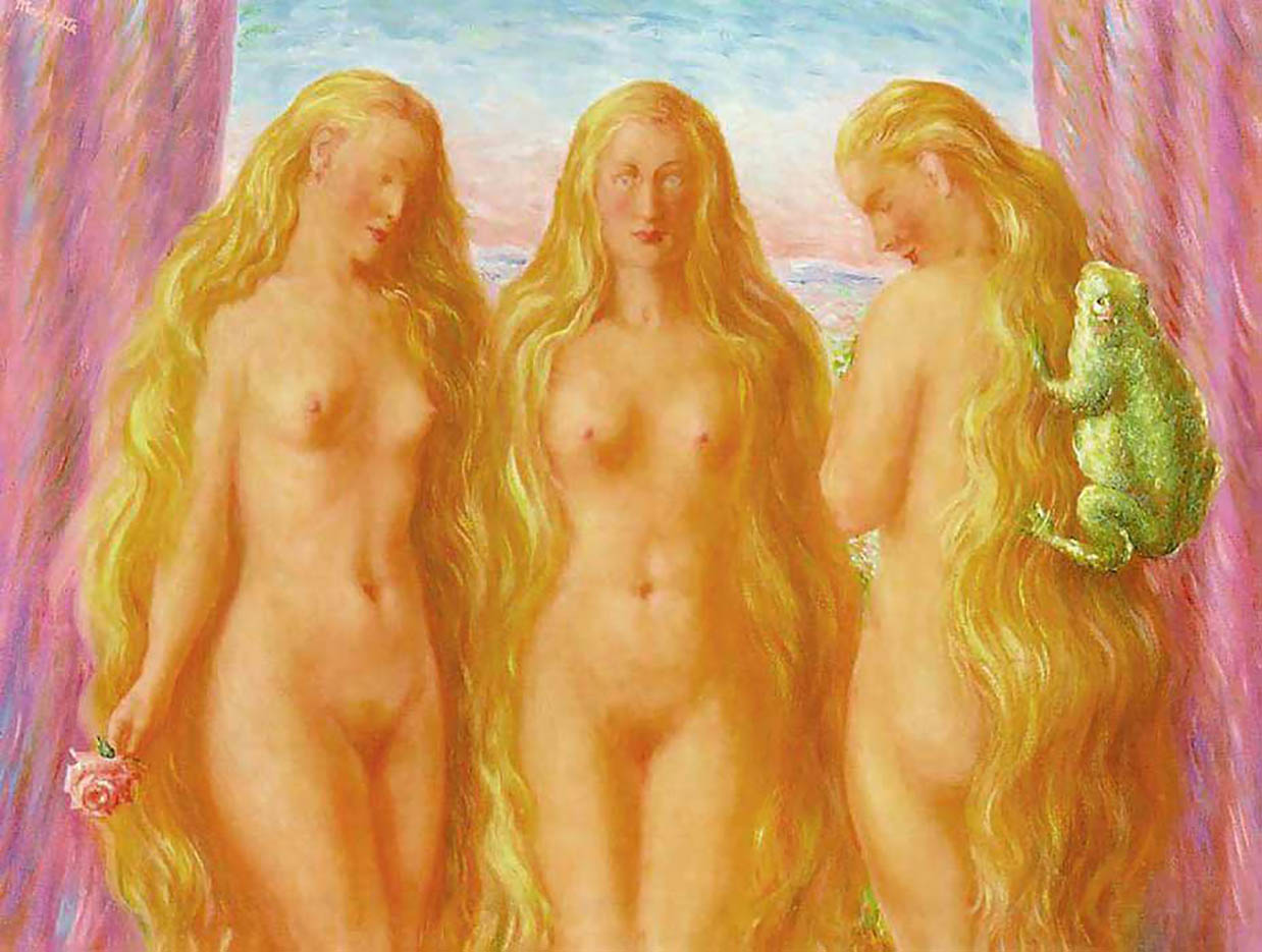 "Рене Магритт (Rene Magritte), ""The sea of flames"""