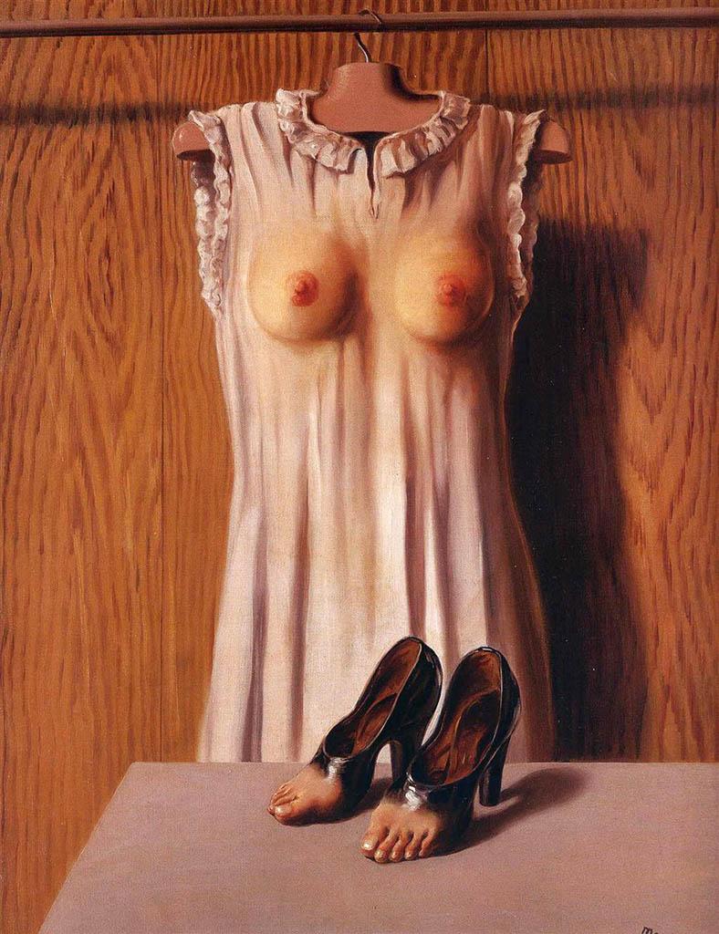 "Рене Магритт (Rene Magritte), ""Philosophy in the bedroom"""