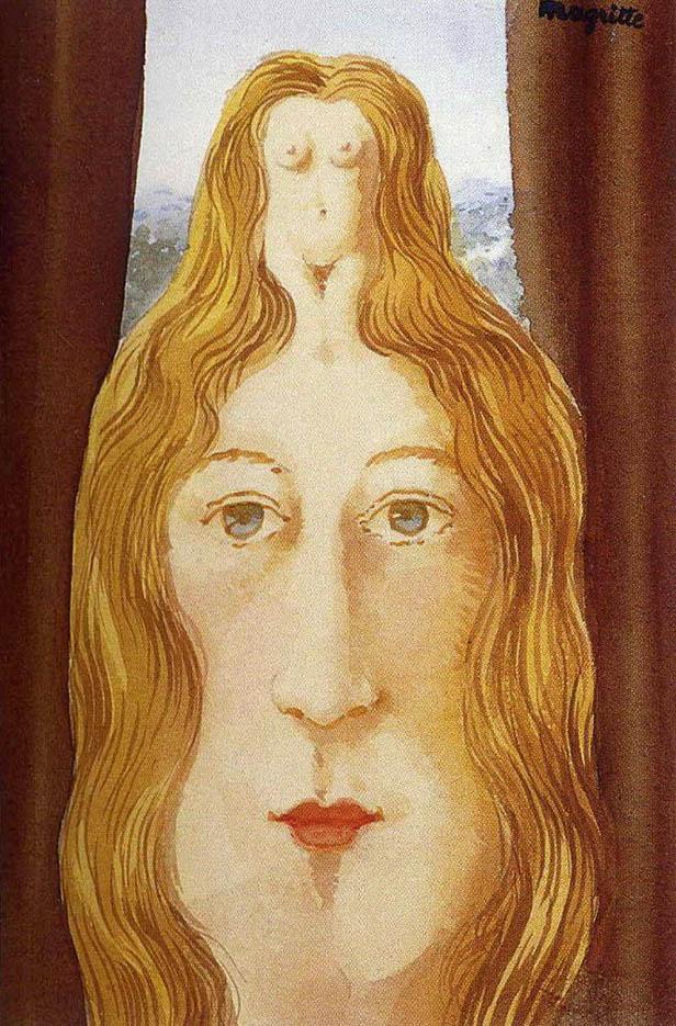 "Рене Магритт (Rene Magritte), ""Силуэт обнажённой девушки"""