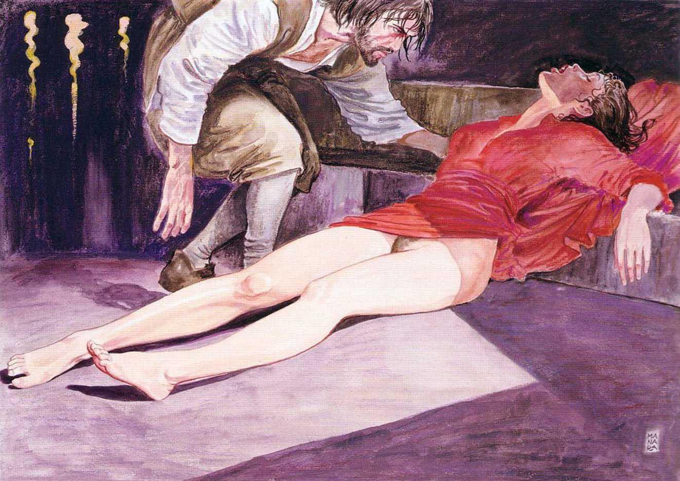 Мило Манара (Milo Manara), Erotic Illustration - 10