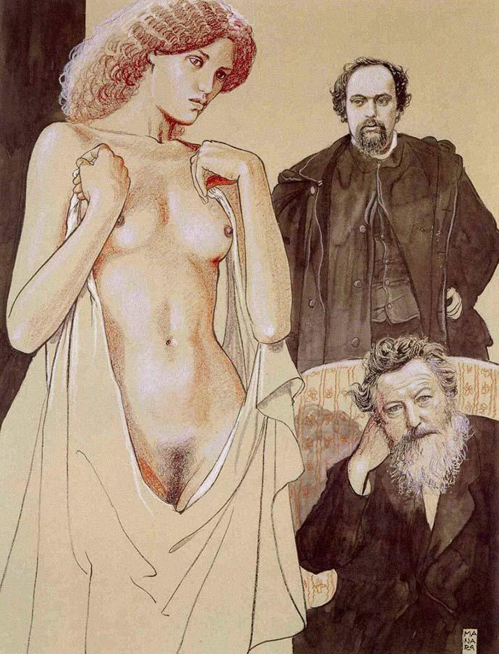 Мило Манара (Milo Manara), Erotic Illustration - 20