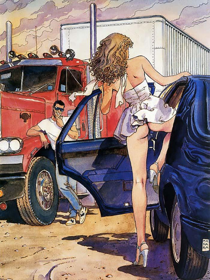 Мило Манара (Milo Manara), Erotic Illustration - 29