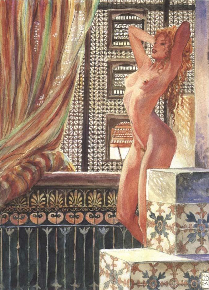 Мило Манара (Milo Manara), Erotic Illustration - 3
