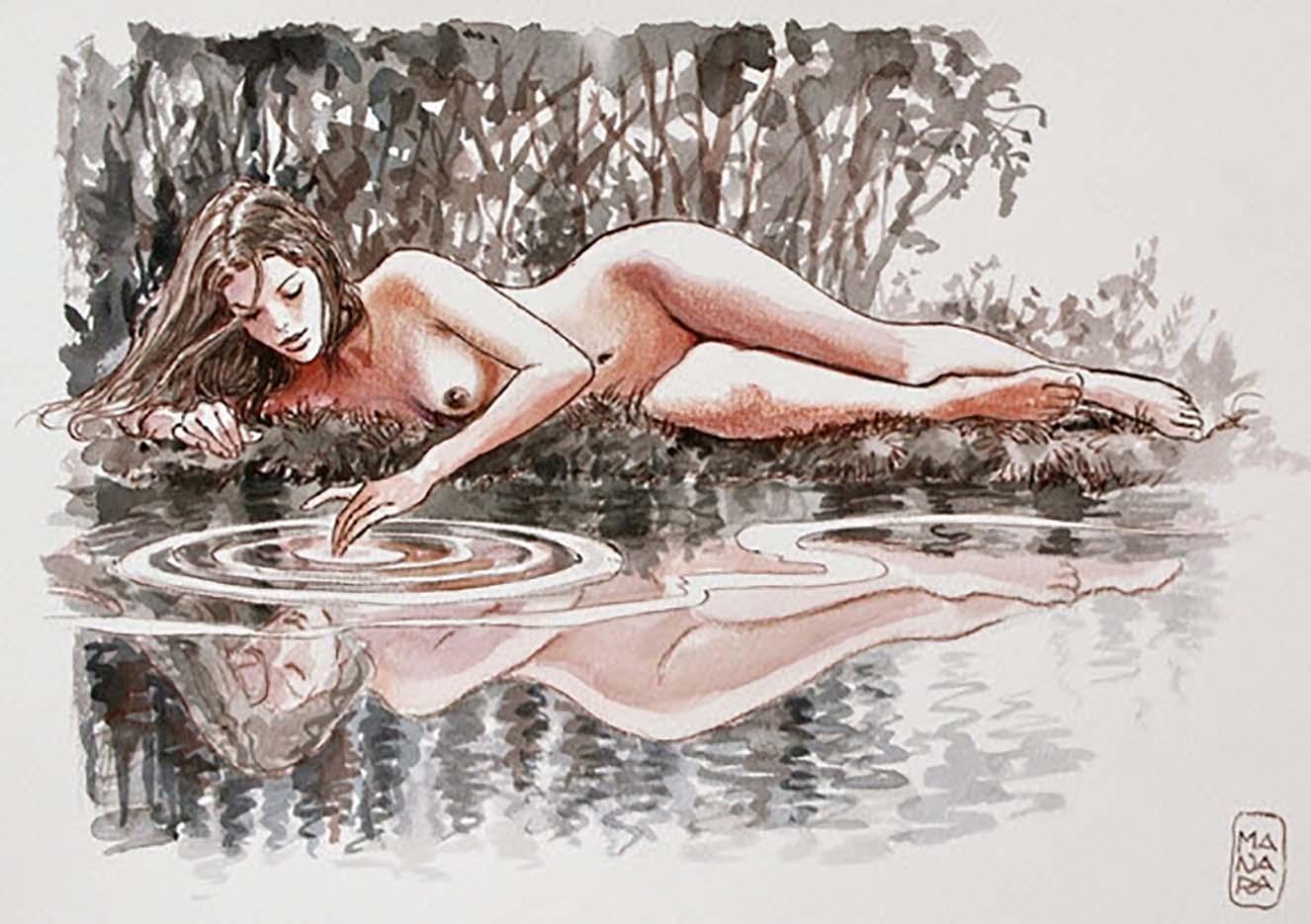 Мило Манара (Milo Manara), Erotic Illustration - 45