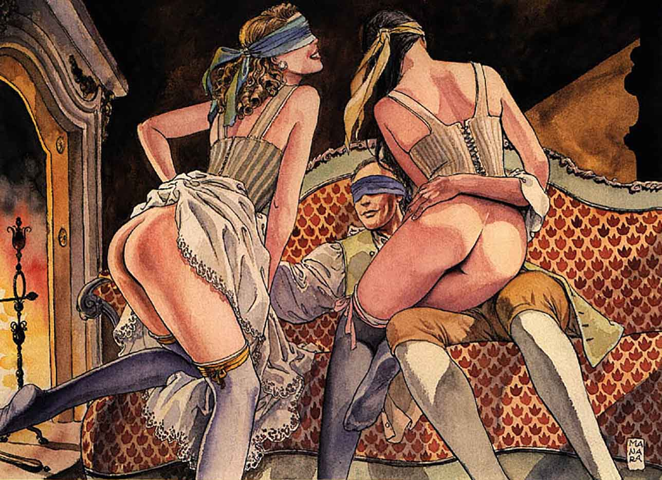 Мило Манара (Milo Manara), Erotic Illustration - 6
