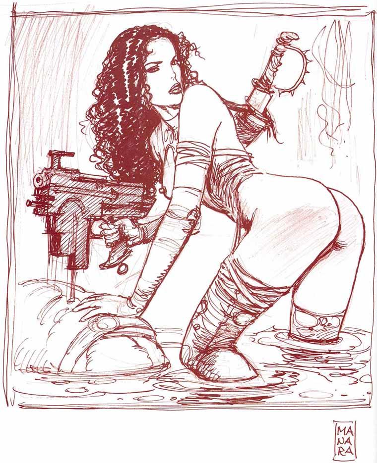 Мило Манара (Milo Manara), Erotic Illustration - 74