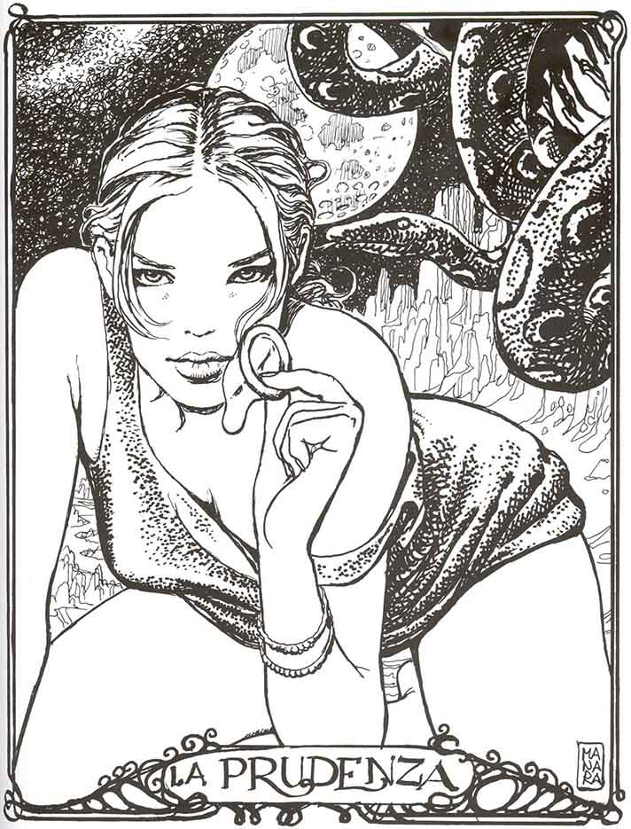 Мило Манара (Milo Manara), Erotic Illustration - 77