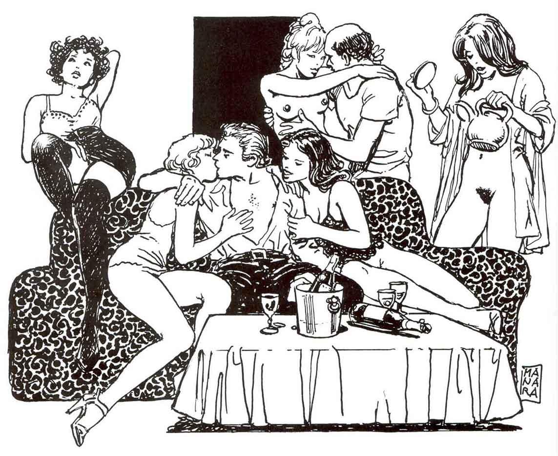 Мило Манара (Milo Manara), Erotic Illustration - 78