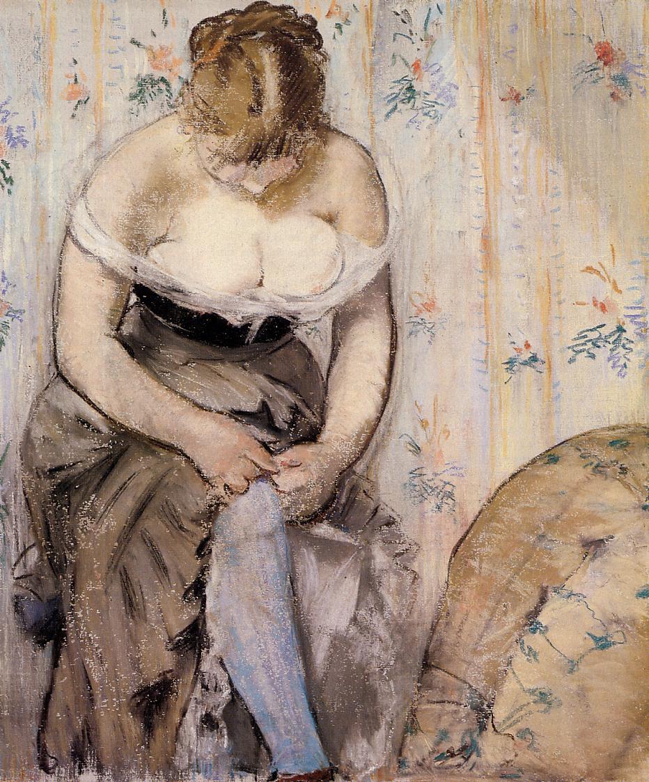 Эдуард Мане (Edouard Manet), Woman Fastening Her Garter