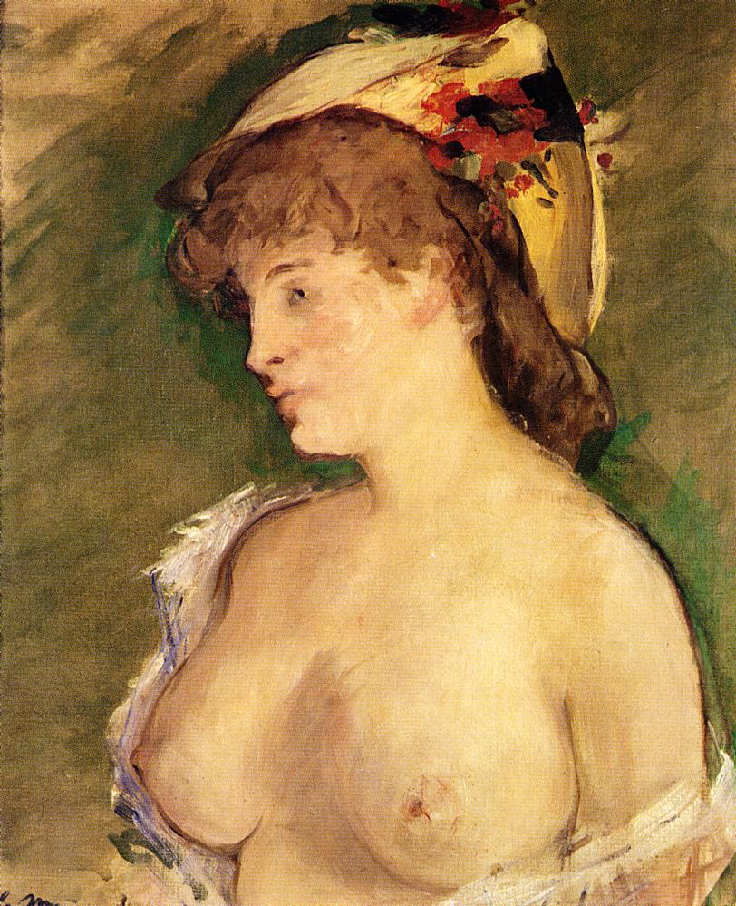 Эдуард Мане (Edouard Manet), The Blond with Bare Breasts