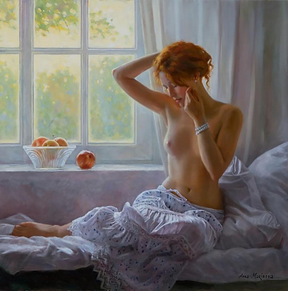 "Анна Маринова (Anna Marinova) ""У окна   By the window"""