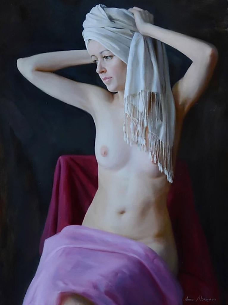 "Анна Маринова (Anna Marinova) ""Белый тюрбан   White turban"""