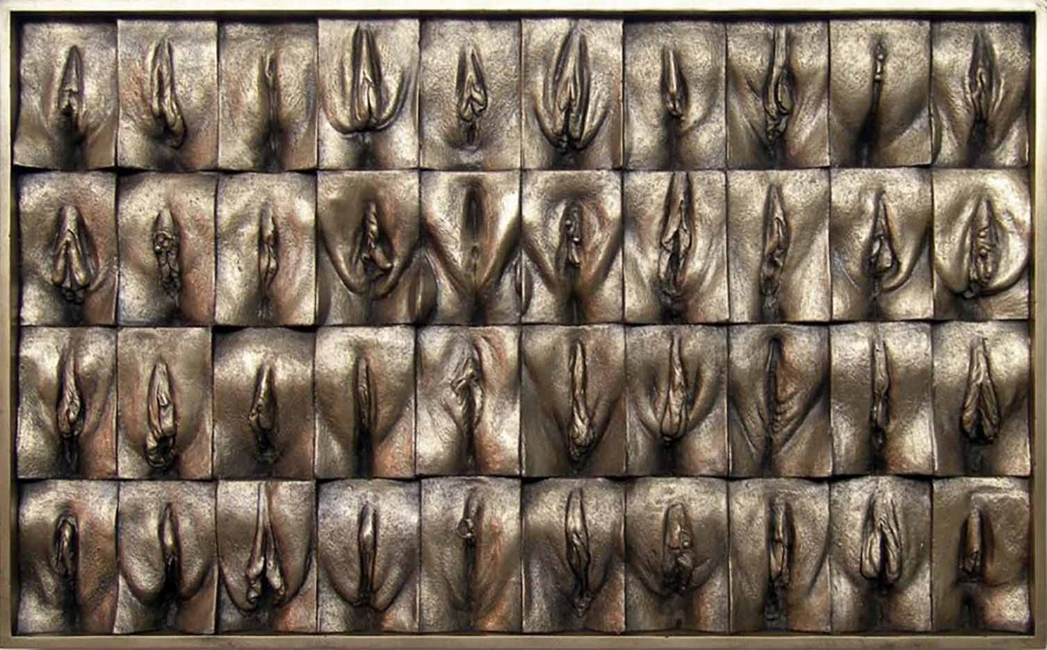 "Джейми Маккартни (Jamie McCartney) ""Great Wall of Vagina Mini Panel 5"""