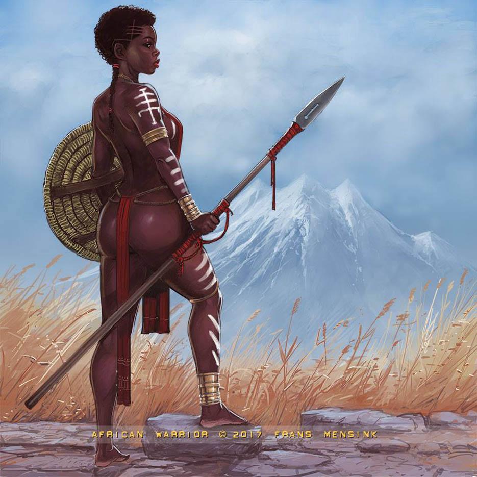 "Франс Менсинк (Frans Mensink), ""African Warrior"""